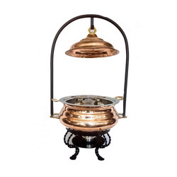 Classic Copper Mughal Mahal Chafer Hammered