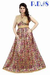 Bhagalpuri Silk Party Wear Gown