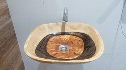 Prayosha Square Brown Moon Resin Bowl