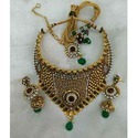 Kundan Necklace with White Bead