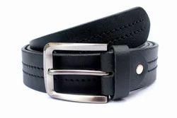 Mens Semi-Formal Black Leather Belt