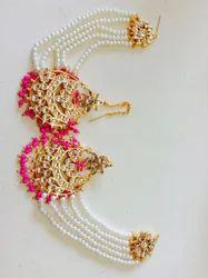 Kundan Pink Earring