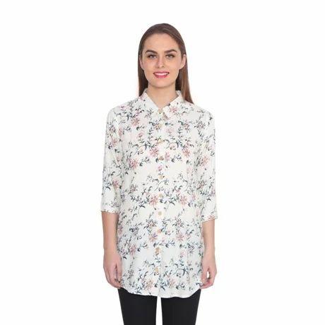 Rayon Printed Tunic Shirt