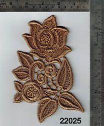 Applique Gold Zari Patch Work