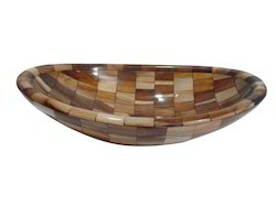 Prayosha Wooden Ship Washbasin