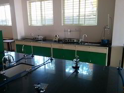 Laboratory Table with Laboratory Set Up