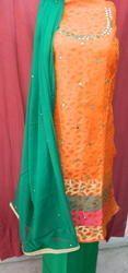 Aaditri Banarasi Silk Suit With Dupatta