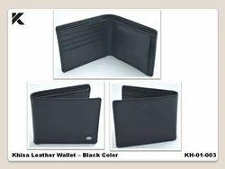 Khisa Leather Wallet - Black Color