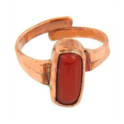 Red Coral Ratti Ring
