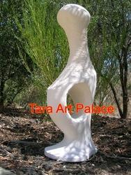 White Abstract Sculptures for Garden