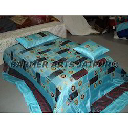 Designer Bed Sheets Mirror Embroidery Patchwork