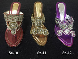 Bridal Stone Work Heavy Embroidered Sandals