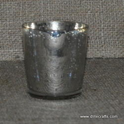 Glass Silver Candle Votive Holder