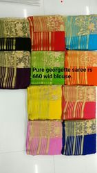 Pure Georgette Saree