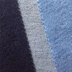 Knit Indigo Denim French Terry Fabric