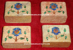 Stone Inlaid Boxes