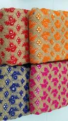 Net Mirror Work Fabrics