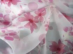 Hand Block Printed Chiffon Fabric