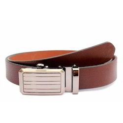 Mens Brown Fashionable Leather Belt