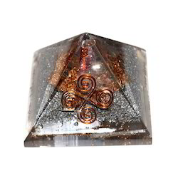 Orgone Pyramid With Four Copper Rings