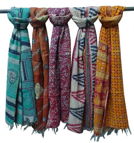 New Cotton Kantha Scarves