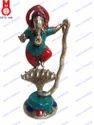 Cobra RD. Base Fine W/Stone Work Lord Ganesha Dancing Statue