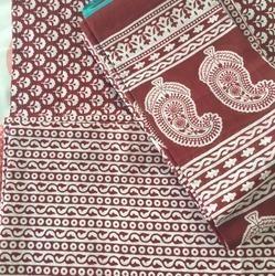 Cotton Suit With Matching Cotton Dupatta