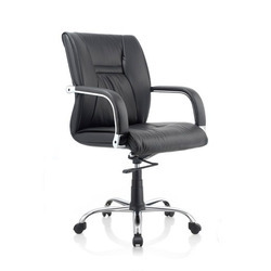 Medium Black Visitor Chair