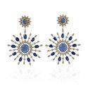 Sapphire Diamond Dangle Earring