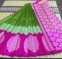 Kuppadam Silk Korvai Border Silk Cotton Saree