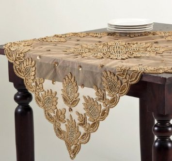 Beads Embroidery Table Covers