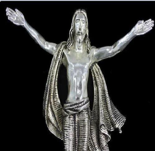 Microne Silver Jesus Statue