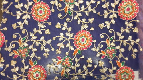 Embroidery Work Fabric Allover Coding Work Fabric Manufacturer