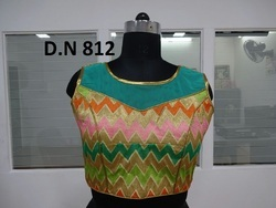 Multicolor Net & Thread Work stitched Blouse