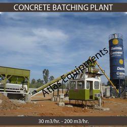 stationary concrete batch mix plant
