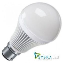 syska white glass led bulb