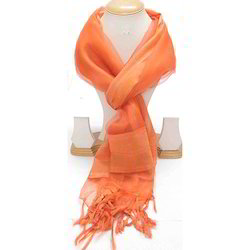 Ladies Orange Color Scarves