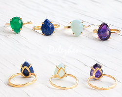 gemstone prong set ring