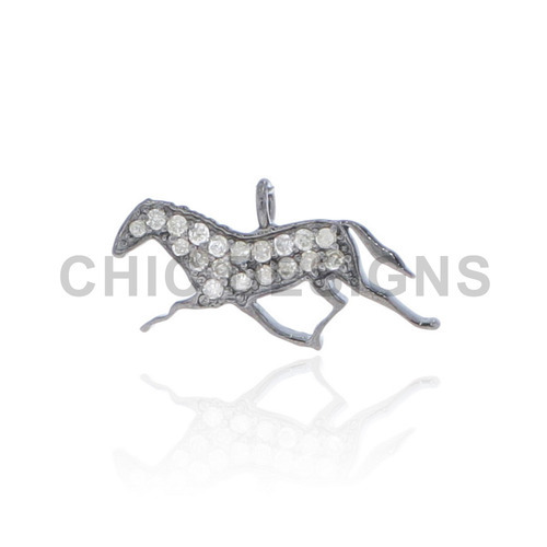 Diamond Running Horse Charm