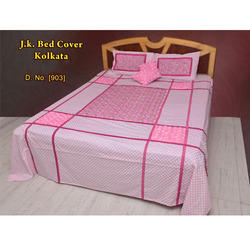 embroidery bed sheet with cushion