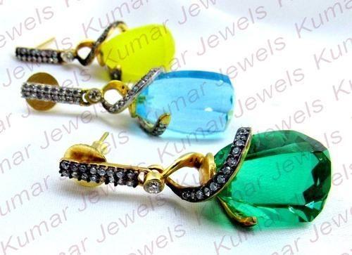 Designer CZ Crystal Earrings