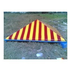 Yellow Red Striped Canopy