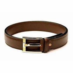 Mens Formal  Brown Leather Belt