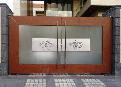Designer stainless steel main gate vaishnu steel works for Hd designs home decor