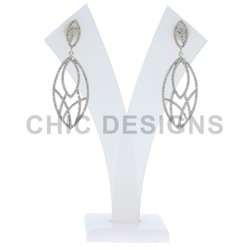 Diamond Gold Dangle Earrings