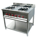 Stainless Steel Four Burner Gas Range