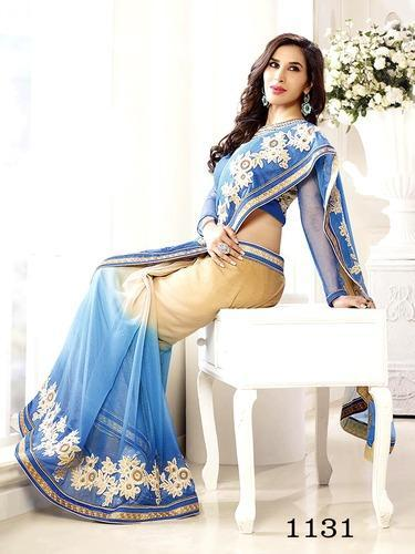 Embroidered Designer Wedding Saree