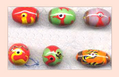 Multi-colored Lamp Work Beads FLWB-04