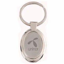 Oval Metal Keychain