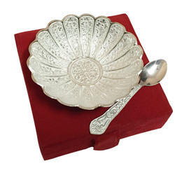 Design Glossy Silver Plated Platter